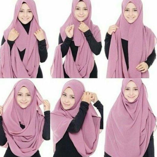 Tutorial hijab pashmina syari'i