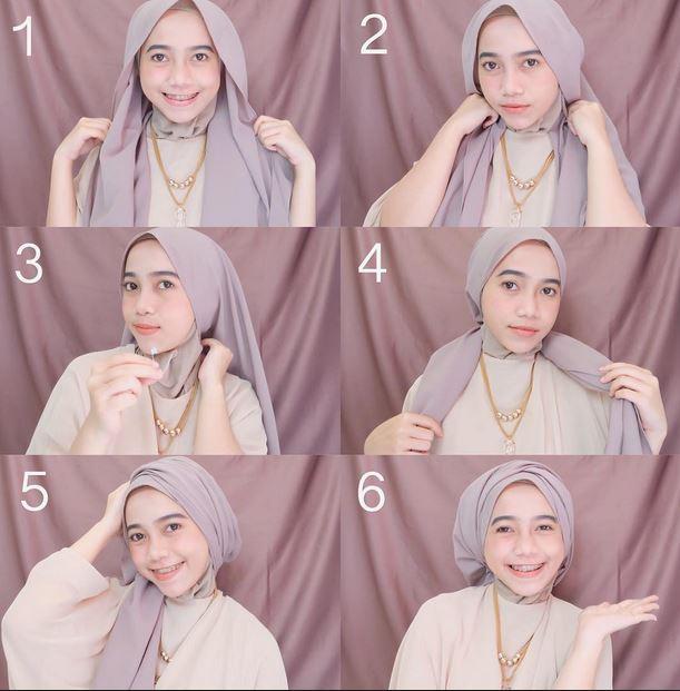 Tutorial hijab pashmina untuk orang gemuk