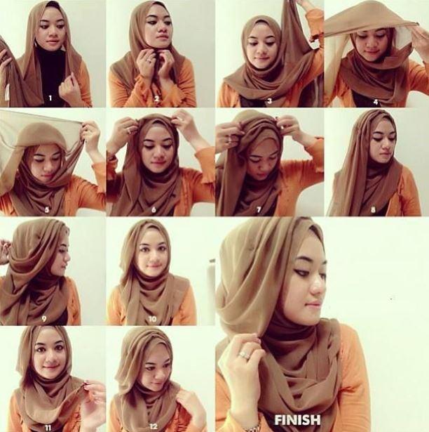 Tutorial hijab pashmina yang modern terbaru 2018