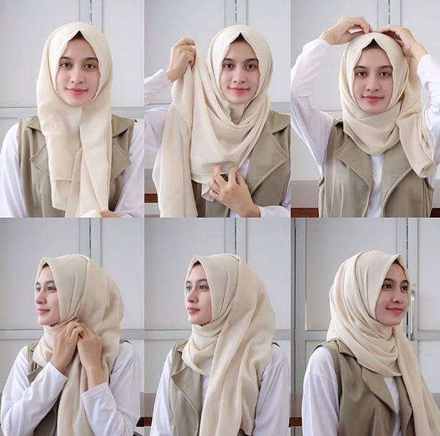 tutorial hijab pashmina yang simpel